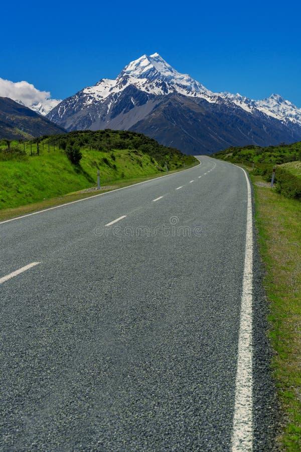 Camino al cocinero del Mt, Nueva Zelanda fotos de archivo libres de regalías
