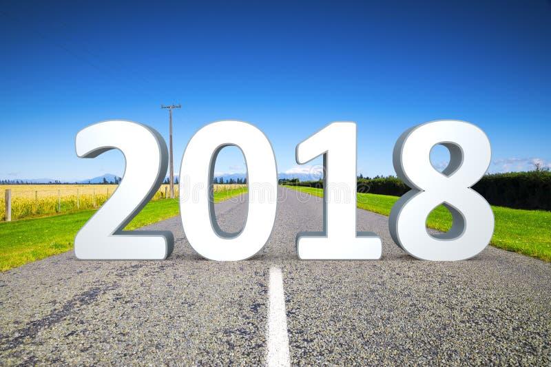 camino al horizonte 2018 imagen de archivo