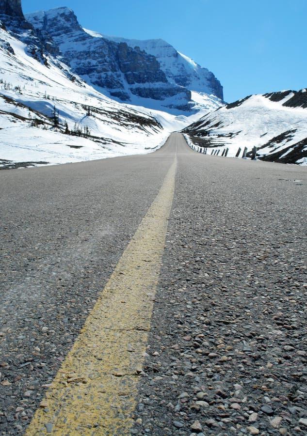 Camino al icefield foto de archivo libre de regalías