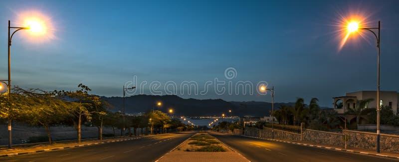 Camino al Mar Rojo, Eilat, Israel fotos de archivo