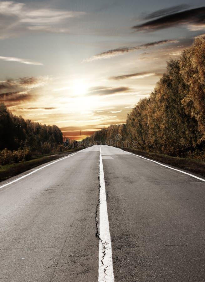 Camino al sol fotografía de archivo libre de regalías