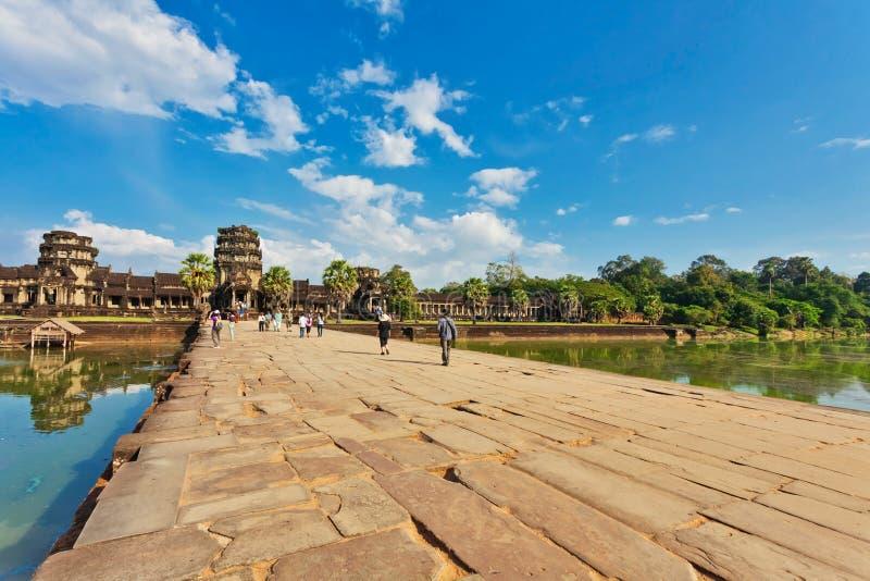 Camino al templo de Angkor Wat foto de archivo
