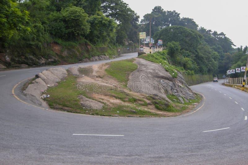 Camino al templo de Kamakhya, Guwahati, Assam imagenes de archivo