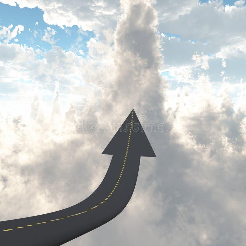 Camino al top ilustración del vector
