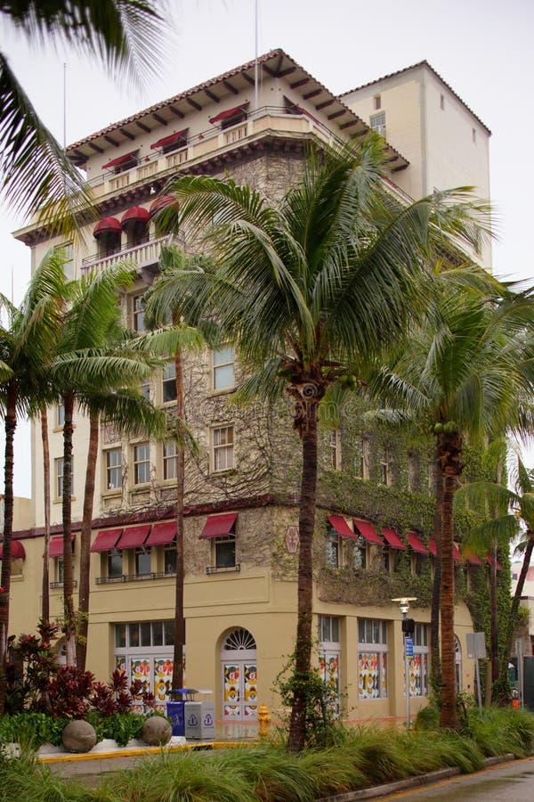 Camino anterior Miami Beach de Van Dyke Cafe Lincoln foto de archivo libre de regalías
