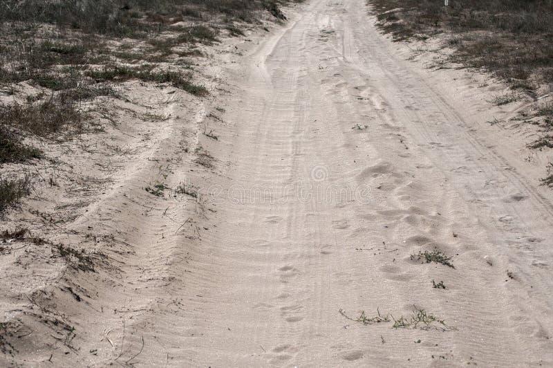 Camino arenoso del campo fotografía de archivo