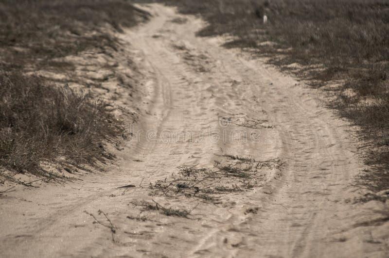 Camino arenoso del campo imagen de archivo