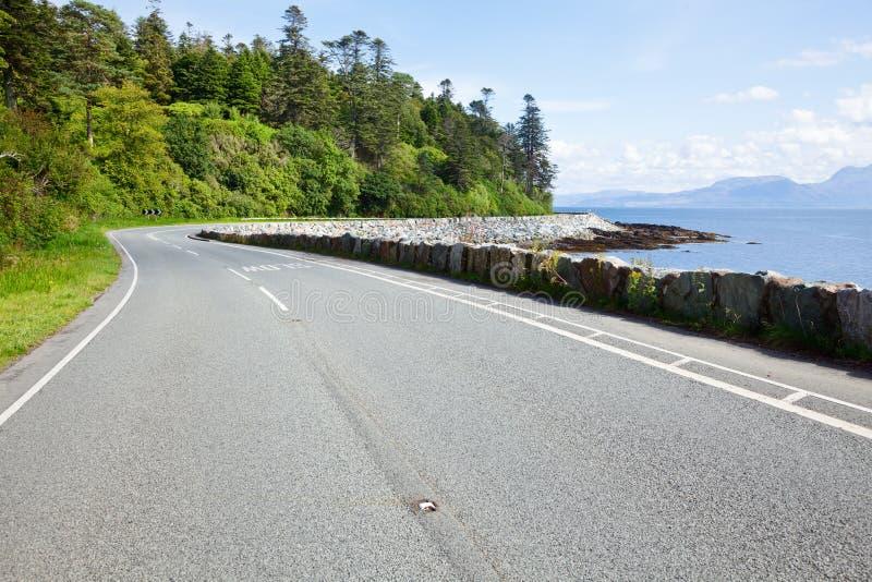 Camino asoleado de la costa costa imágenes de archivo libres de regalías