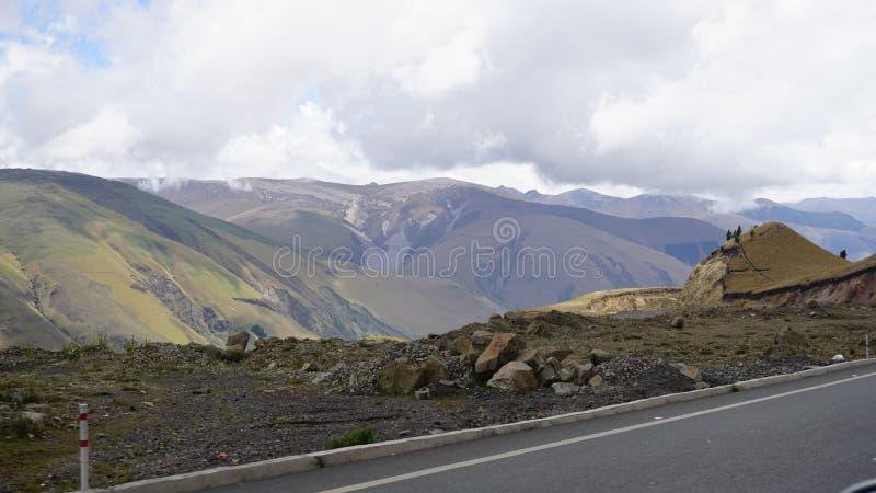 Camino a Chimborazo Ecuador imagenes de archivo
