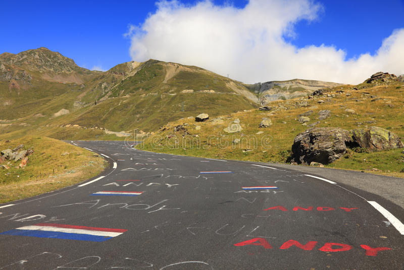 Camino A Col Du Tourmalet Fotografía editorial