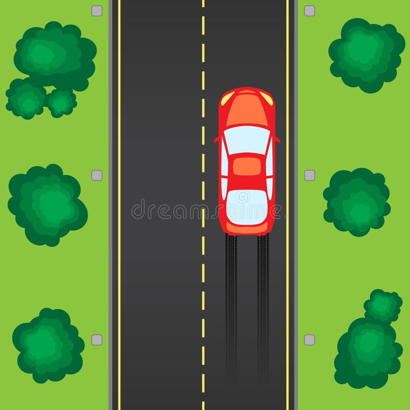 Camino con el coche libre illustration