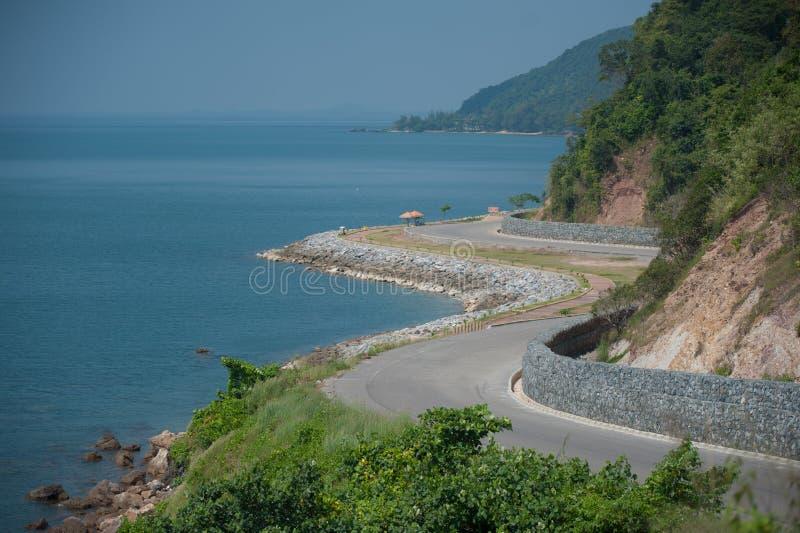 Camino costero fotografía de archivo