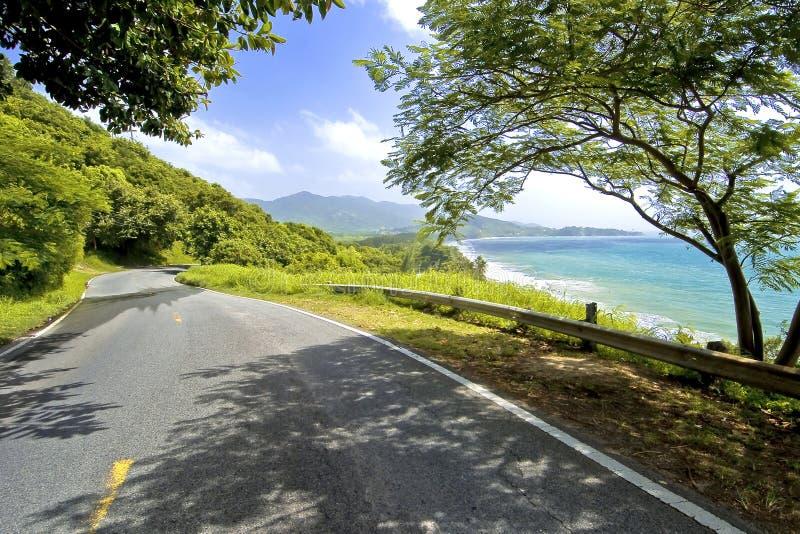 Camino costero meridional, Puerto Rico imagen de archivo libre de regalías