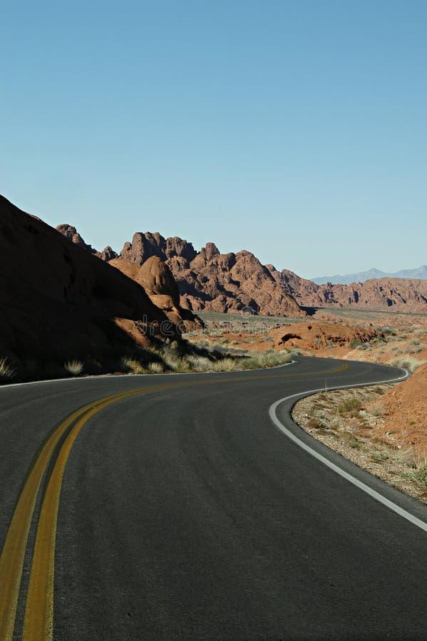 Camino Curvey Fotografía de archivo