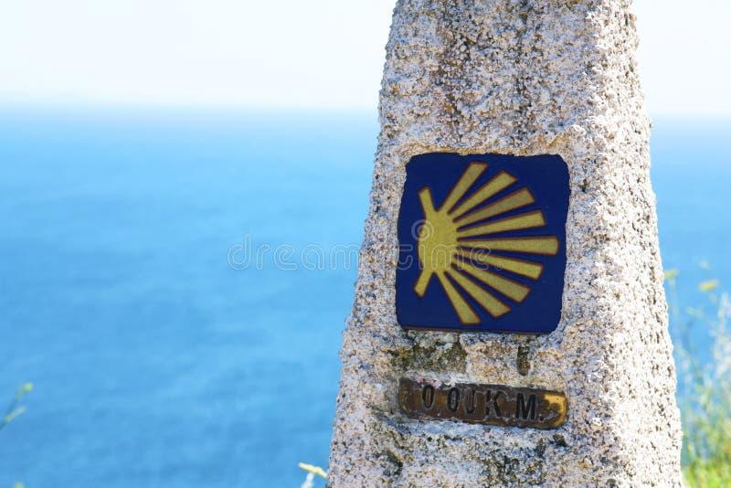 Camino de圣地亚哥标记 免版税库存图片