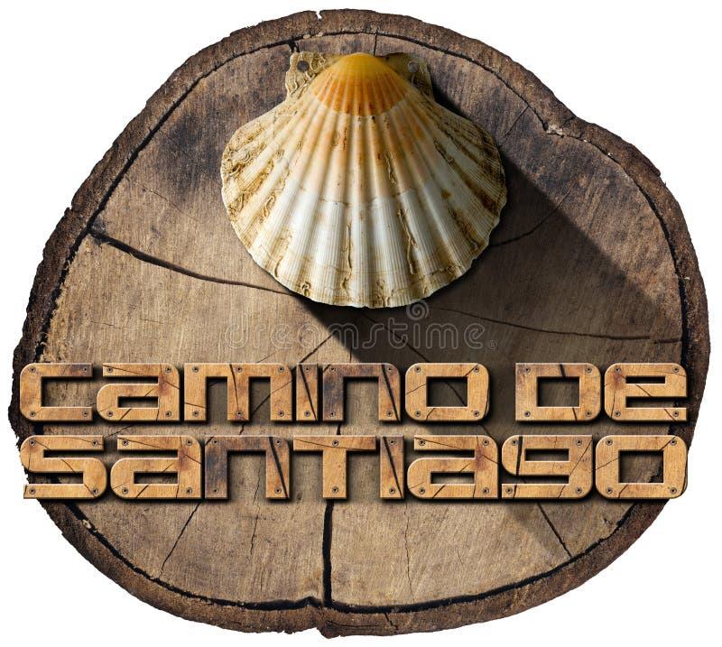 Camino de Σαντιάγο - σύμβολο προσκυνήματος ελεύθερη απεικόνιση δικαιώματος