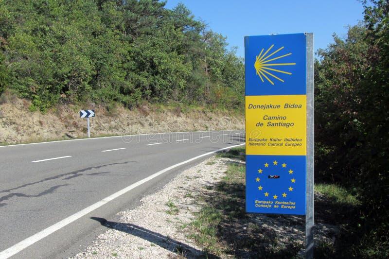 Camino de Σαντιάγο στοκ εικόνες