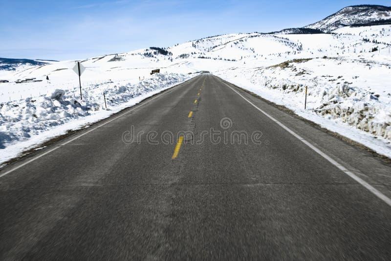 Camino de Colorado en invierno. fotografía de archivo libre de regalías