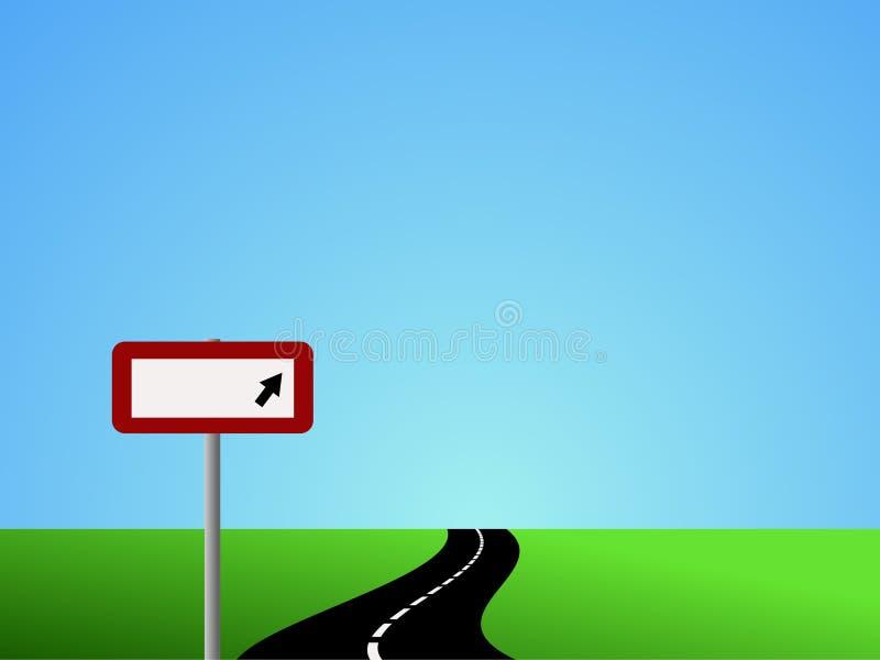 Camino de enrollamiento con la muestra en blanco ilustración del vector
