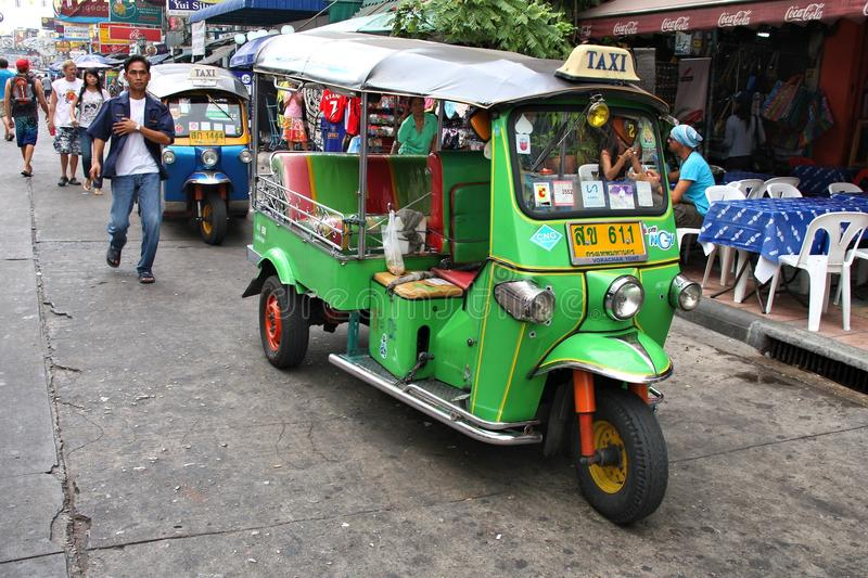 Camino de Khaosan, Bangkok imagenes de archivo