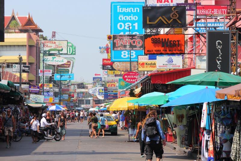 Camino de Khaosan, Bangkok imágenes de archivo libres de regalías