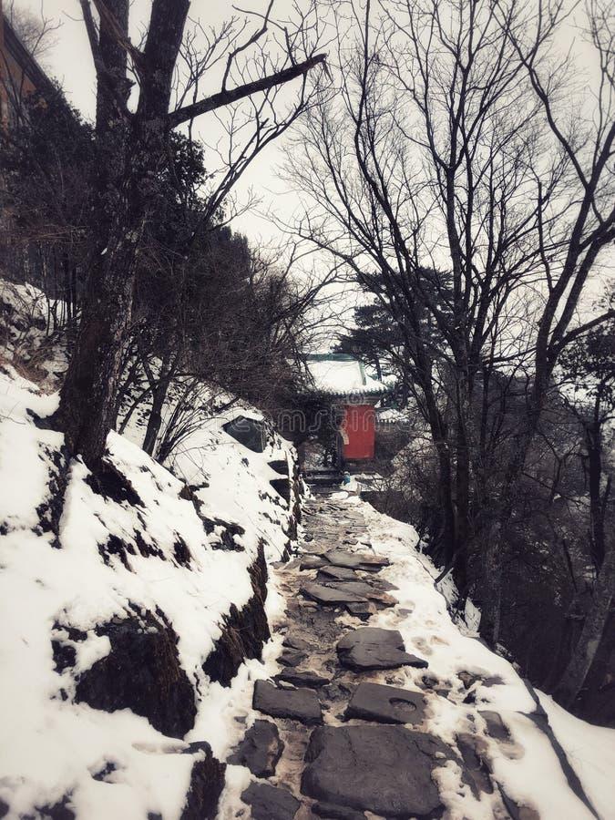 CAMINO de la arquitectura del Taoist de Wudang en China fotografía de archivo