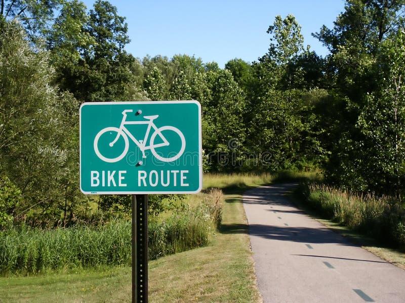 Camino de la bici fotografía de archivo