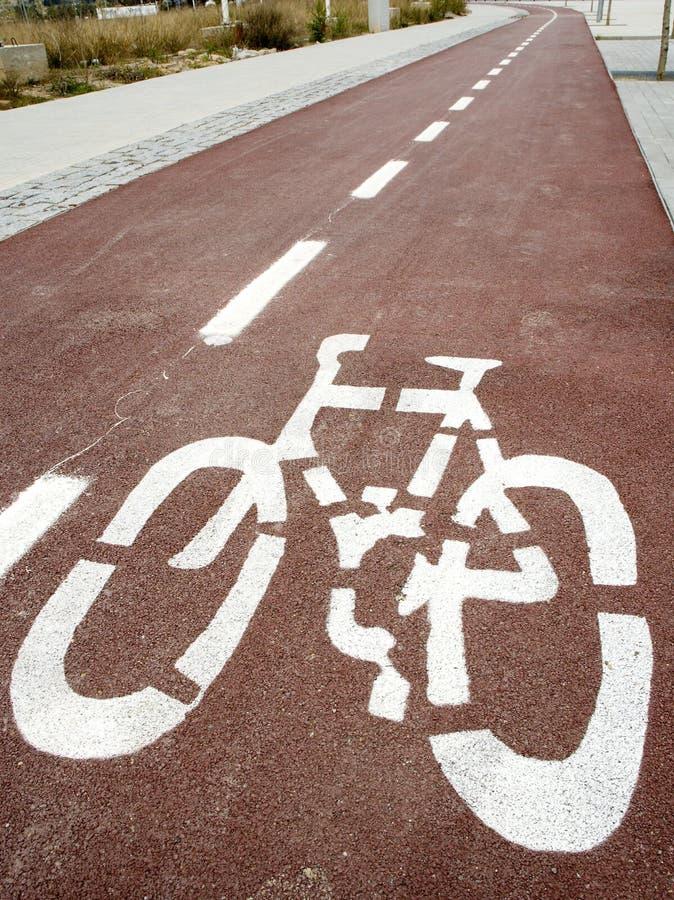 Camino de la bici imagenes de archivo