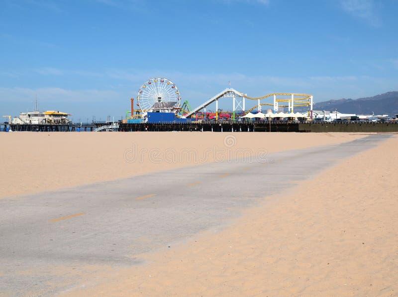 Camino de la bici del embarcadero de Santa Mónica imagen de archivo