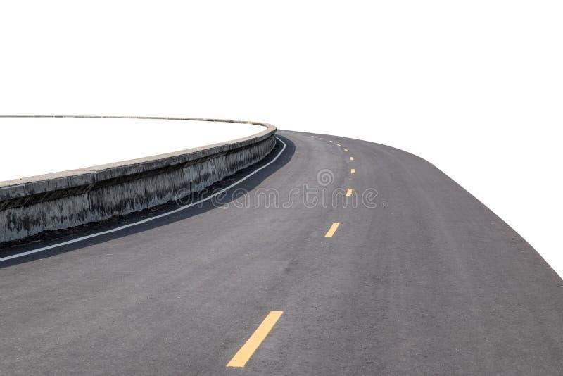 Camino de la curva en el fondo blanco fotografía de archivo