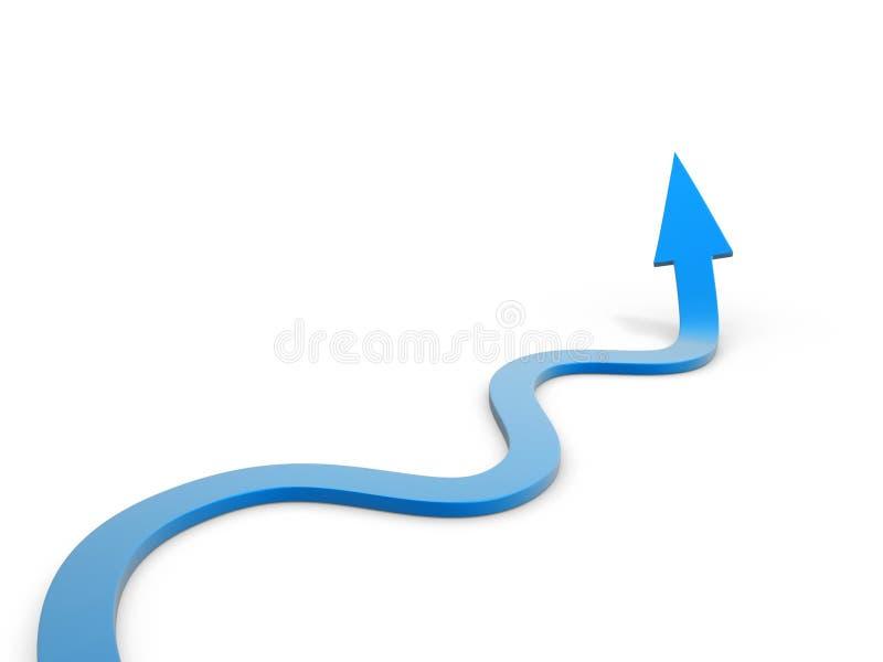 Camino de la flecha del enrollamiento libre illustration