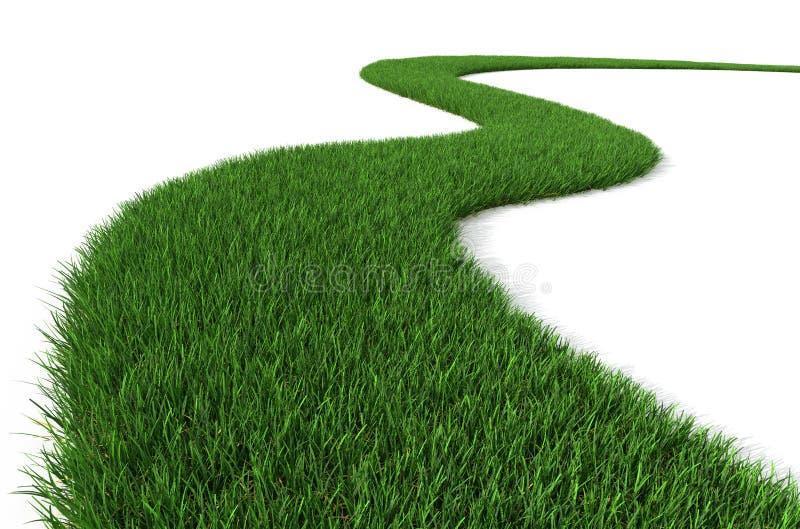 Camino de la hierba verde stock de ilustración