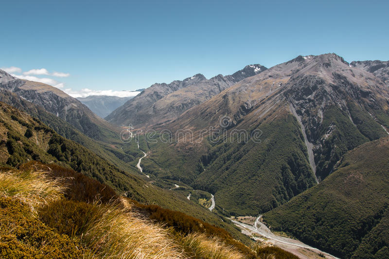 Camino de la montaña imagenes de archivo