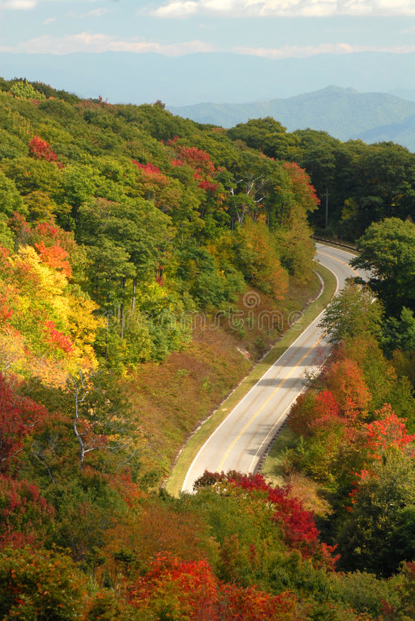 Camino de la montaña en Tennessee fotografía de archivo libre de regalías