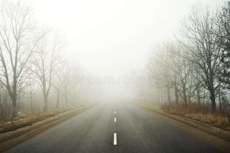 Camino de la niebla foto de archivo libre de regalías