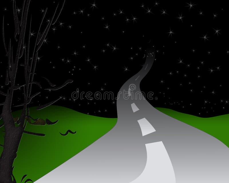 Camino de la noche fotos de archivo