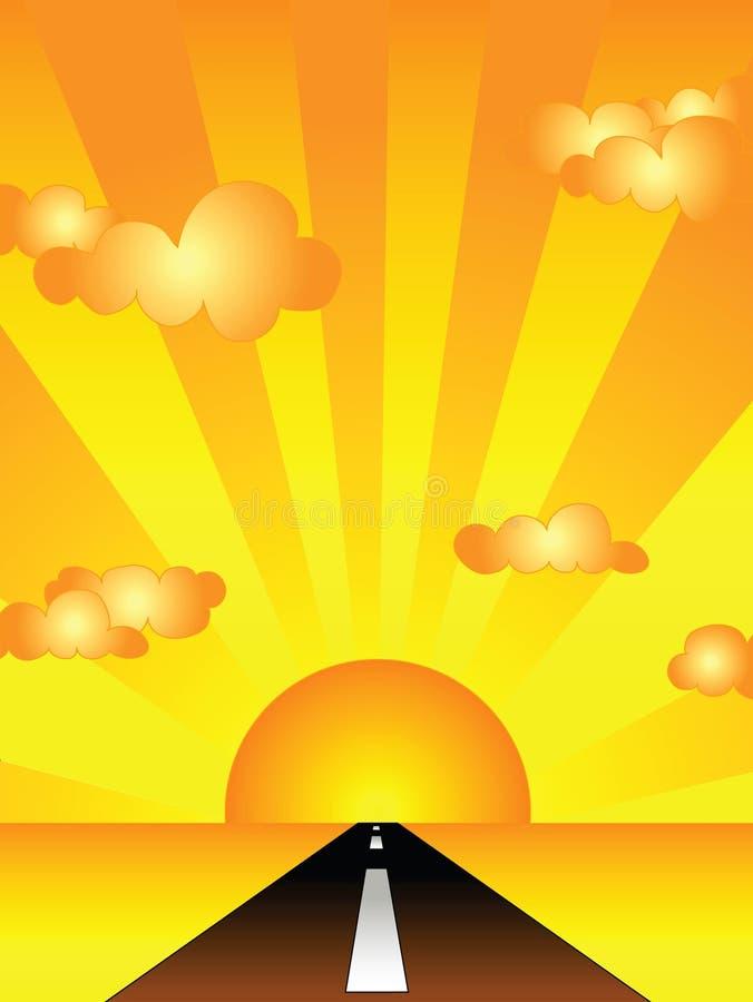 Camino de la puesta del sol libre illustration