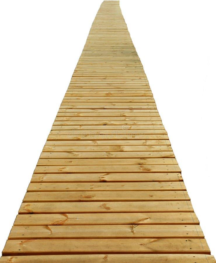 Camino de madera directo aislado foto de archivo libre de regalías