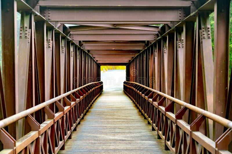 Camino de madera de la caminata imagen de archivo