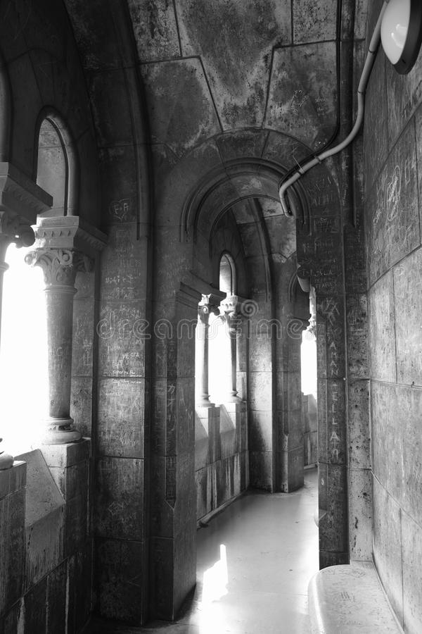 """Camino de paso de la bóveda del ur de Sacré-CÅ """"en blanco y negro fotos de archivo libres de regalías"""