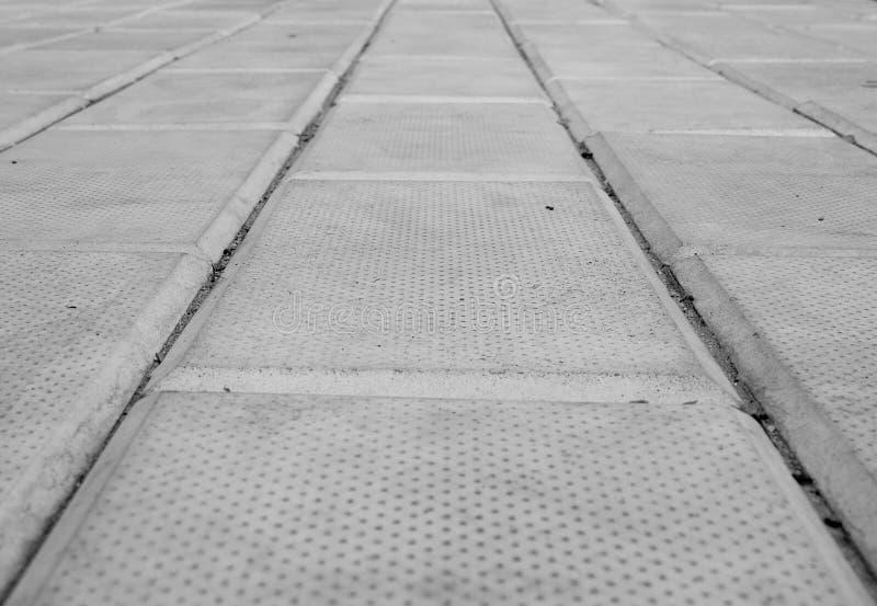 Camino de piedras concretas fotografía de archivo libre de regalías