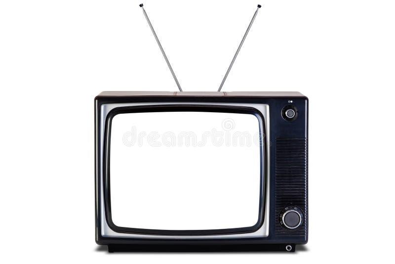 Camino de recortes aislado TV retro de la sombra. foto de archivo
