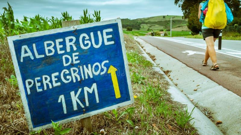 Camino de Santiago fotografia stock