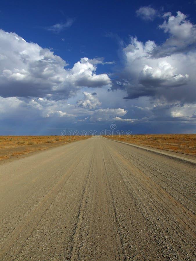 Camino de tierra namibiano foto de archivo libre de regalías