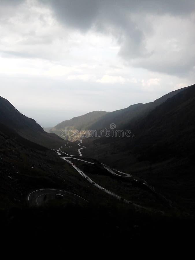 Camino de Transfagarasean imagen de archivo libre de regalías