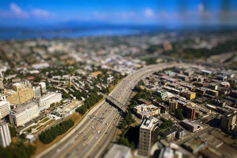 Camino de un estado a otro en Seattle foto de archivo