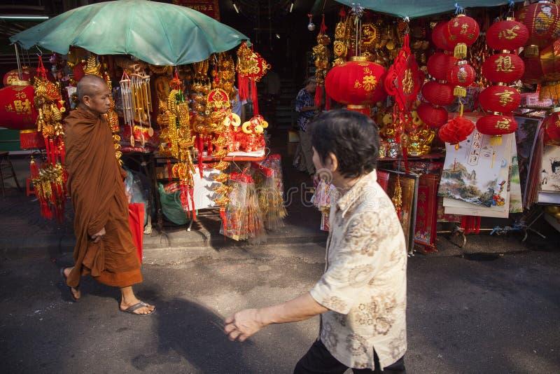 Camino de Yaowarat en la ciudad de China en Bangkok, Tailandia imagen de archivo libre de regalías