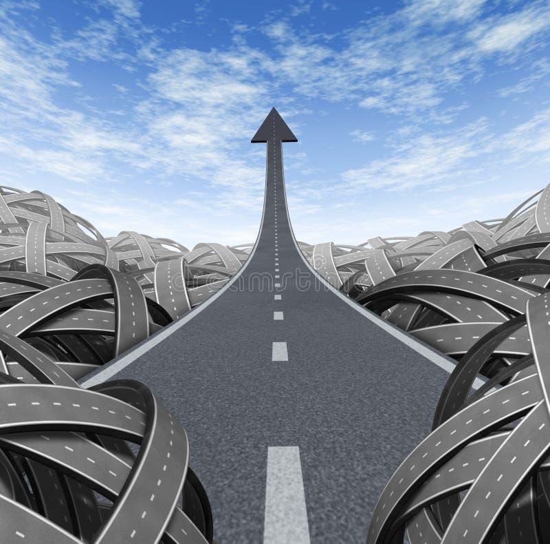 Camino del éxito ilustración del vector