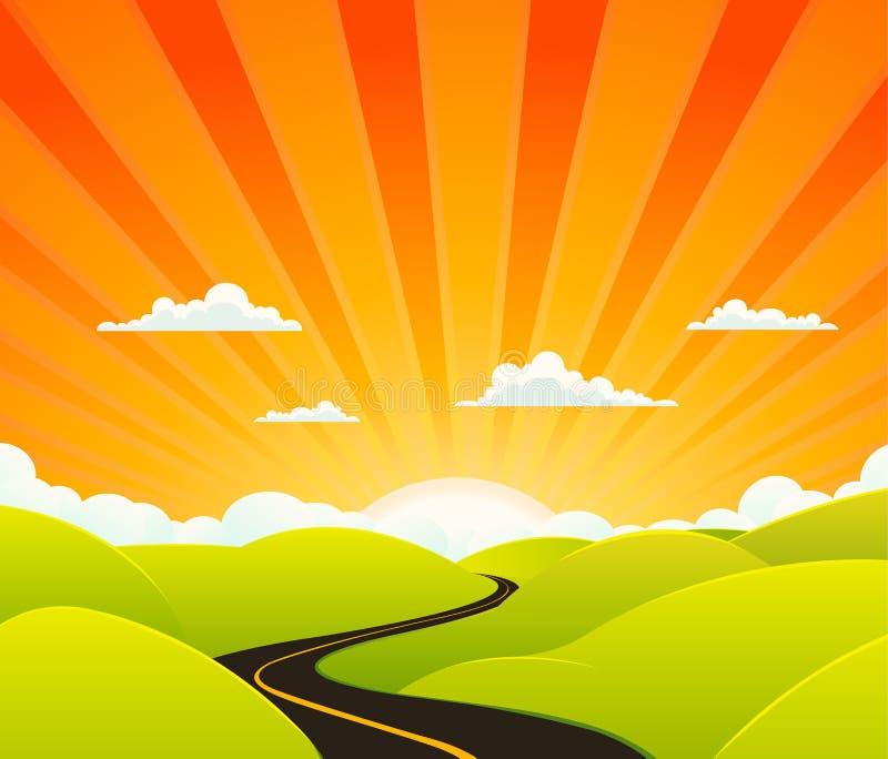 Camino del cielo stock de ilustración