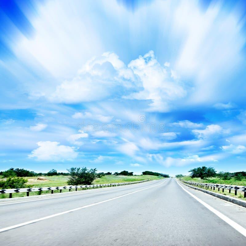 Camino del coche fotos de archivo